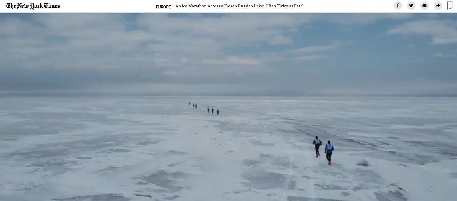 New York Times: An Ice Marathon Across a Frozen Russian Lake